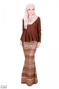 Qanita Peplum Songket Baju Kurung Modern [K19899]