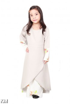 Farossa Floral Kids Jubah Dress [J18395]