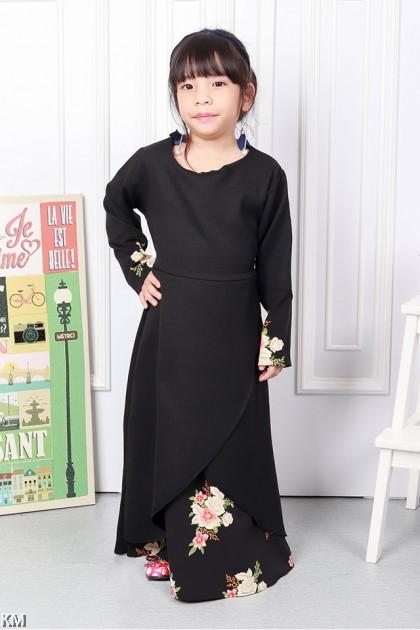 Farossa Floral Kids Jubah Dress [J18395]