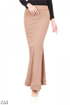 Pleat and Tiered Duyung Skirt [S19589]