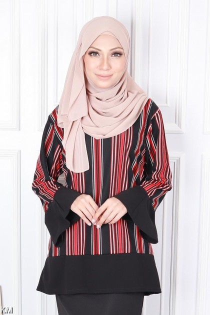 10dabfa50c64db ... Vertical Colorblocks Muslimah Blouse [B19345]