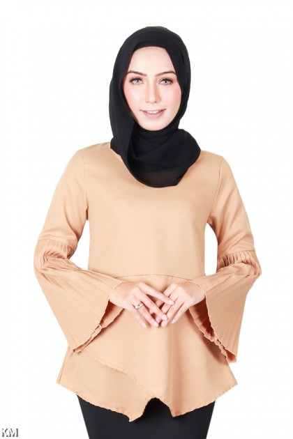 Heather Layered Muslimah Blouse [B19562]