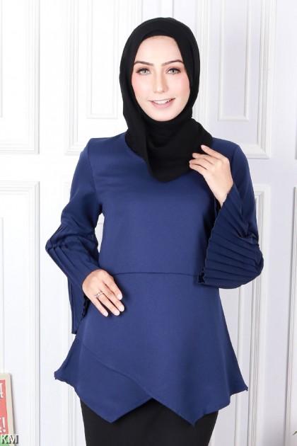 Heather Layered Muslimah Blouse [B19562]