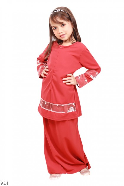 Kids Hidayah Front Zip Baju Kurung Modern [K20825]