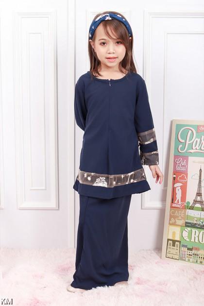 Kids Hidayah Front Zip Baju Kurung Modern [K20824]