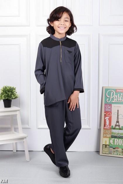 Kids Aziz Front Zip Baju Melayu Modern [M20895]