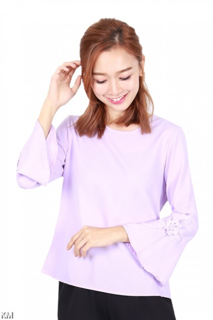 Women Plain Basic Fluted Top [B1239]