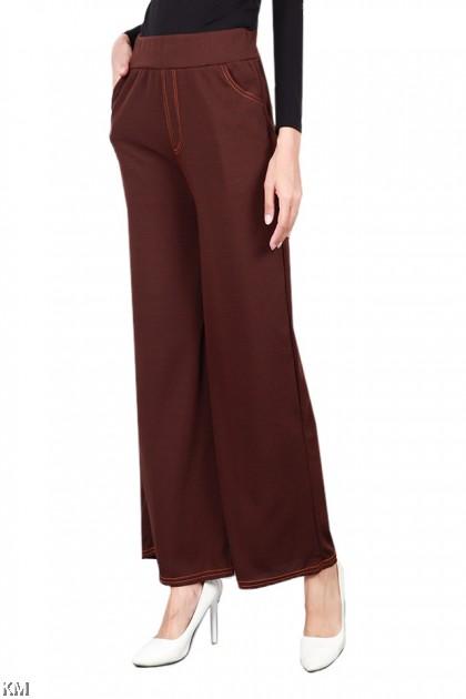 Jeans Hem Wide Leg Culottes [P19583]