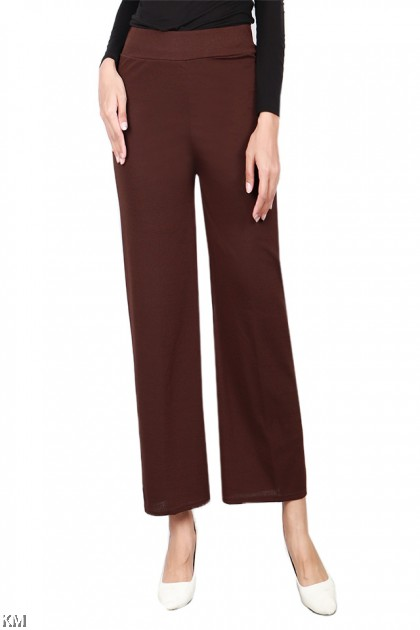 Solid Office Elastic Modern Pants [P19607]
