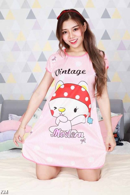 Cartoon Printed Mini Night Dress Collection [PJ19519]