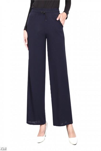 Tie Belt Solid Culottes [P19904]