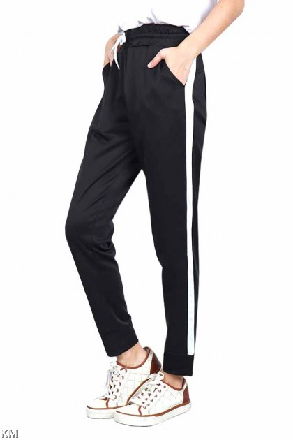 M-XL Edgy Clean Black Tracking Jogger [P19552]
