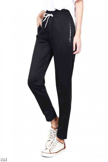 M-XL Black Regular Fit Tracking Jogger [P19557]