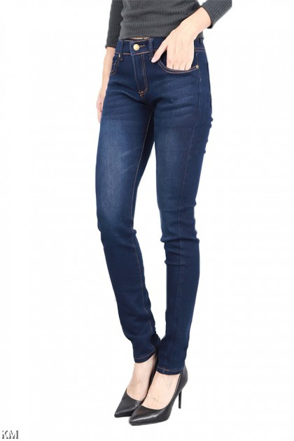KM Women Blue Skinny Fit Jeans [J19489]