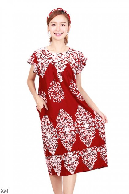 Flare Sleeves Kaftan Dubai Sleeping Dress [D23864]