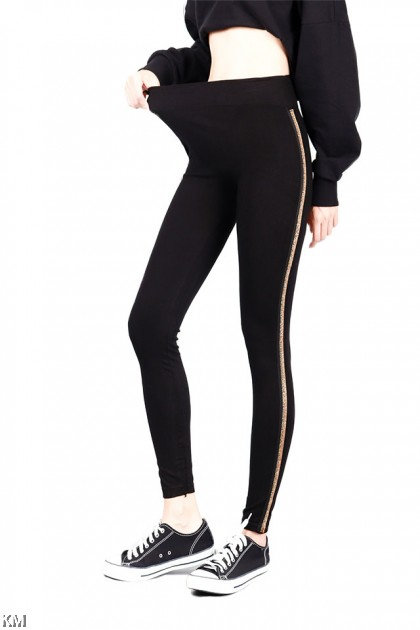 Gold And Silver Striped Legging [P13558]