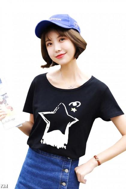Korean Graphic Printed T Shirt [T10311]