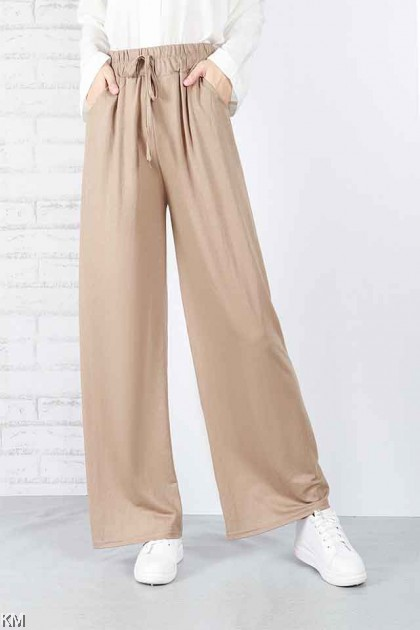 Soft Linen Cotton Flattering Pants [P18352]