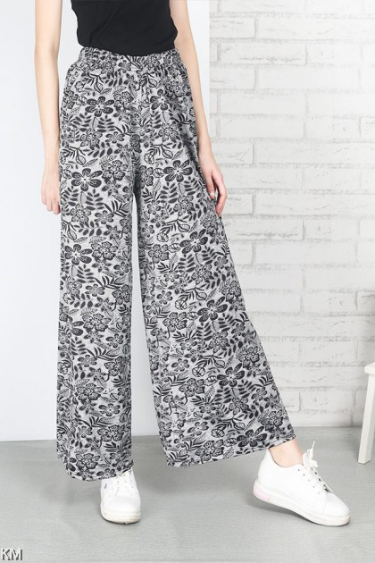 Super Plus Size Printed All Over Pants [P18370]