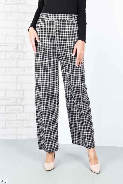 Checkered Printed Straight Cut Pants [P20229]