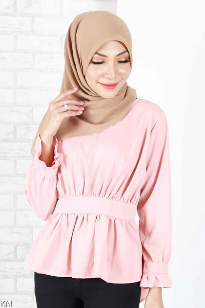 Aleena Peplum Long Sleeves Blouse [B1785]
