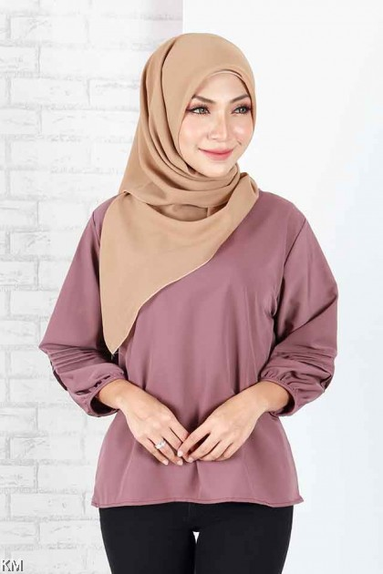 Faraz Bishop Cuff Sleeves Blouse [B1786]