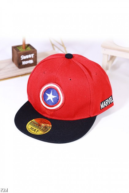 Kids Snapback Button Embroidery Caps [K359]
