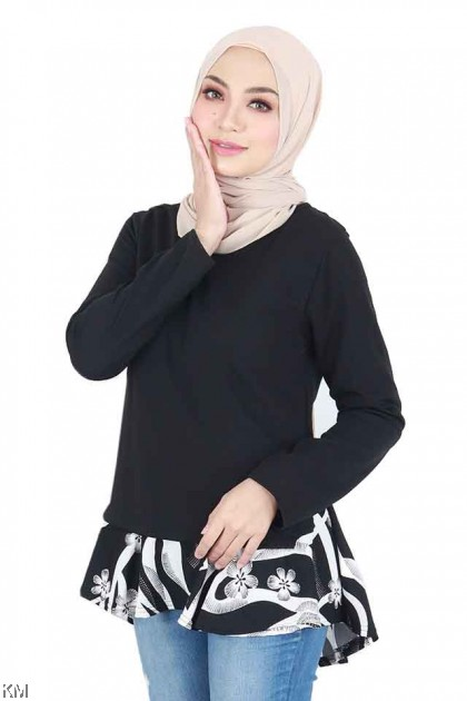 Najwa Flared A Line Solid Blouse [B20737]