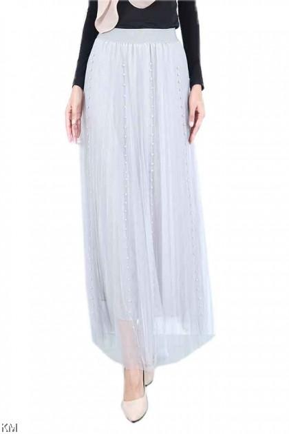 Embellished Sheer Women Skirt [S21948]