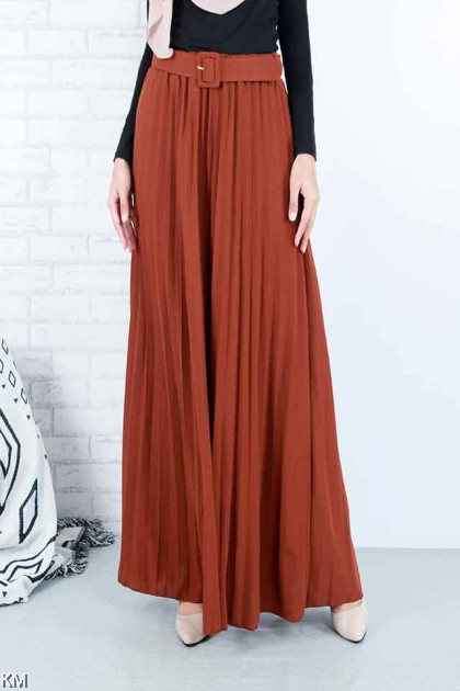 Indulge Belt Pleated Maxi Skirt [S21980]