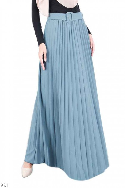 Indulge Belt Pleated Maxi Skirt [S21980]