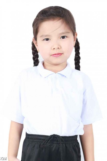 School COLLAR SHORT Sleeves White T Shirt [T19805]