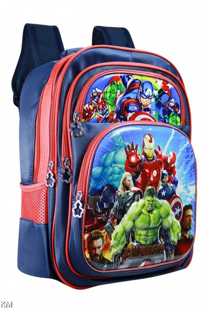 3D Cartoon Trolley School Bag [BG16065]