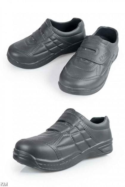 Black Slip On Water Resistant School Shoe [M13201]
