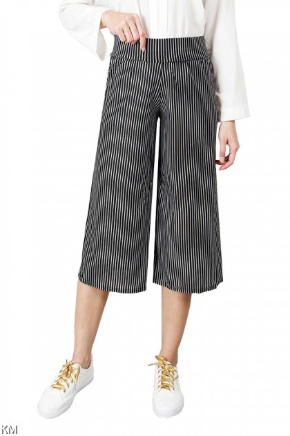 Women Smart Casual Striped Pants [P24124]