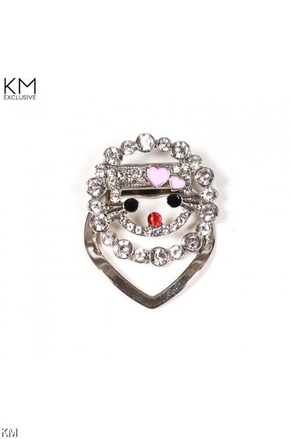 Kitty Ring Tudung Clip Brooch [A55]