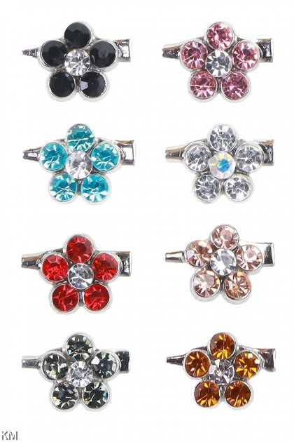 Flower Diamond Baby Pin Brooch [A37]