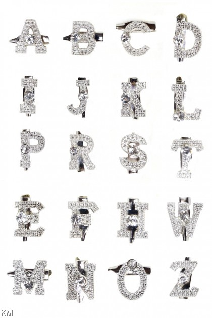 Alphabet Letter Baby Pin Brooch [A42]