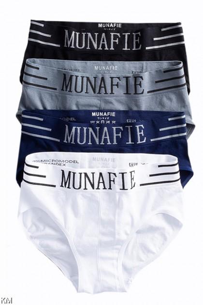 Low Rise Munafie Men Underwear Briefs [M24638]