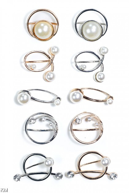 Pearl Tudung Ring Brooch Collection [A06]