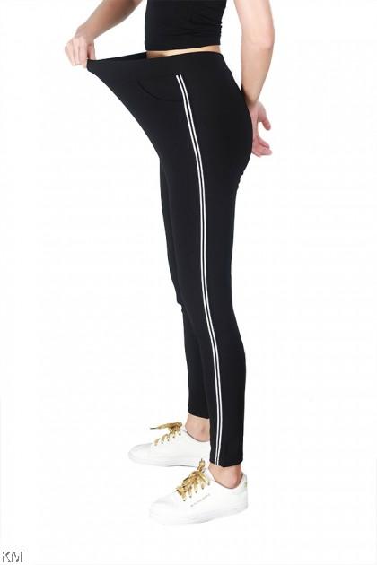 Slim Elastic Track Legging Pants [P24907] [P29127]