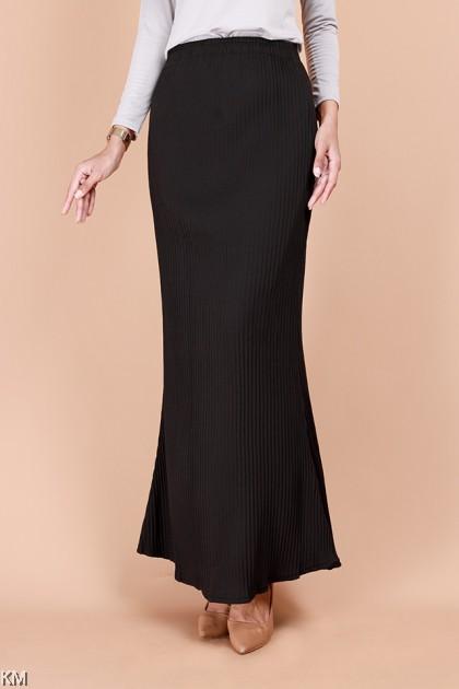 Qaleesya Elastic Long Pleated Duyung Skirt [S26496]