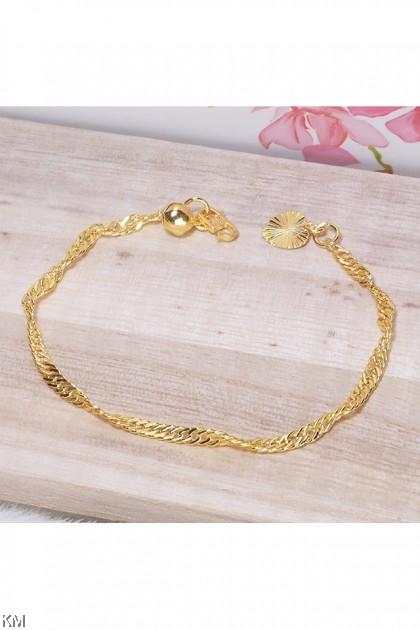 916-24K Fashion Korea Gold Bracelet Collection A [BA]
