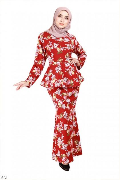 Jameelah Floral Peplum Kurung Set [K26051]