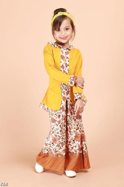 Kids Deena Modal Front Zip Kebaya Kurung Set [K26383]