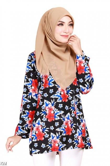 Alaisyah Flora Batik Fashion Blouse C [B11841]