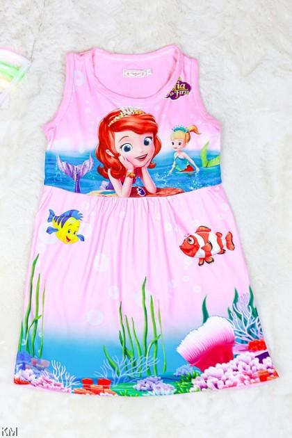 S-XXL Kids Cartoon Princess Dress [D2042]