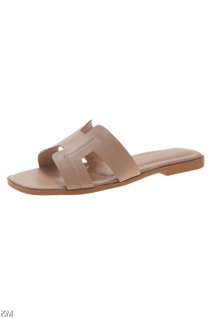 Pastely Holla Slip On Sandal Flat Shoes [SH86]