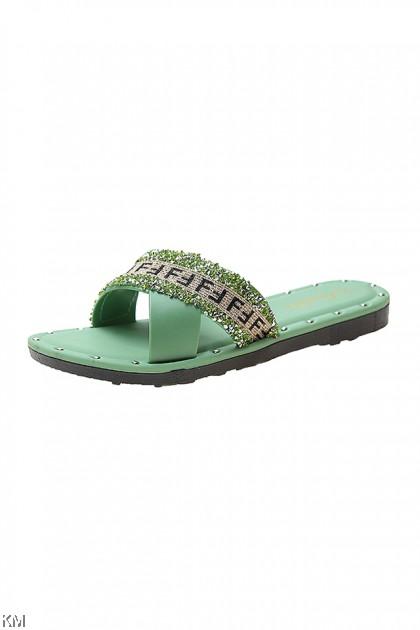 Summer Day Letters Slip On Sandals [SH28643]