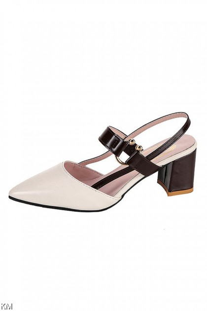 Domey Strap Luxury High Heels Wedges Shoes [SH27820]
